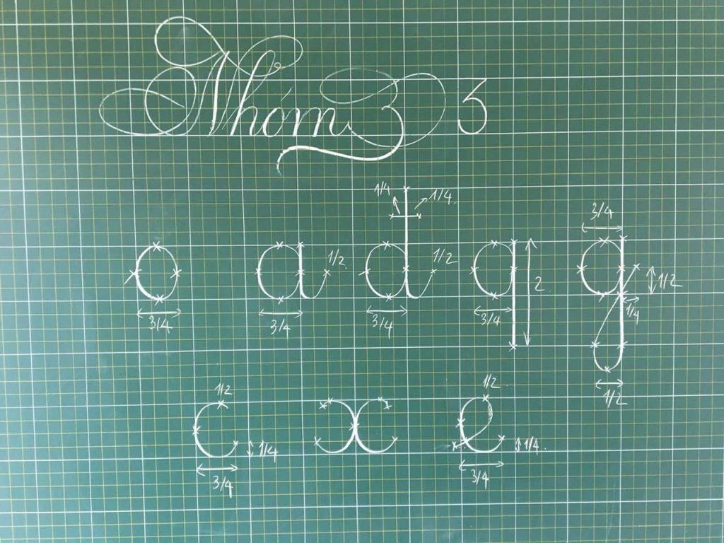 chữ viết sáng tạo tiểu học